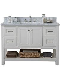 Alya Bath HE 102 48 W CWMT Wilmington Single Bathroom Vanity With