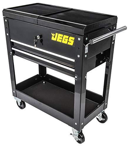 - JEGS 81412 Heavy-Duty Tool Box Cart Sliding Top 350 lb. Capacity