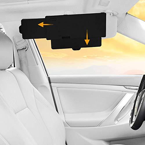 Sun visor extender side window