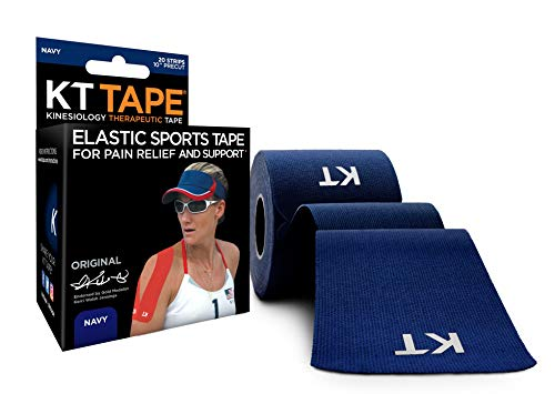 KT Tape Original Cotton Elastic Kinesiology Therapeutic Sports Tape, 20 Pre cut 10 inch Strips, - Tape Teaching