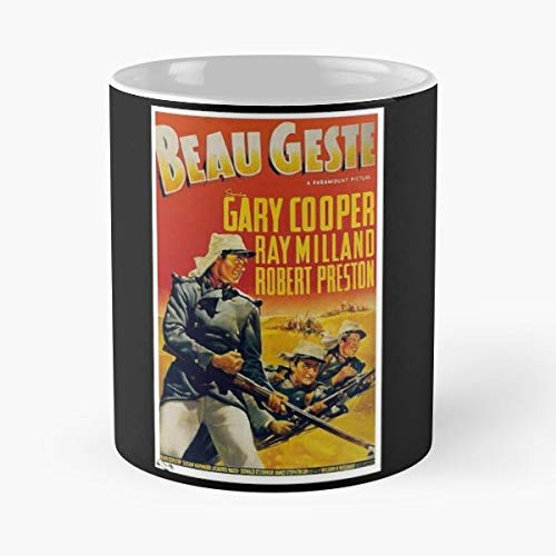 Beau Geste Poster - Beau Geste Movie Film Poster - Morning Coffee Mug Ceramic Novelty Holiday 11 Oz