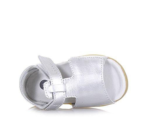 BOBUX - Sandalia plata Step Up Mirror de cuero, made in New Zealand, ideal para los primeros pasos y el gateo, niña, bebé