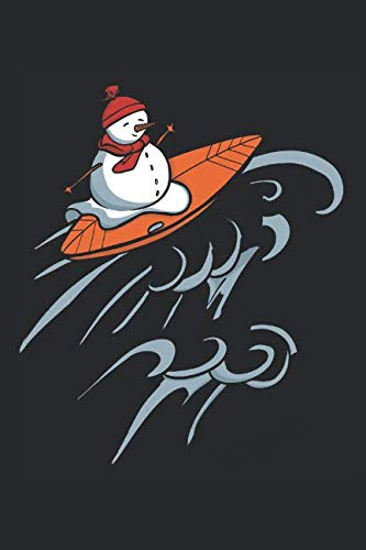 (Surfing Snowman: 6x9 Ruled Notebook, Journal, Daily Diary, Organizer, Planner)