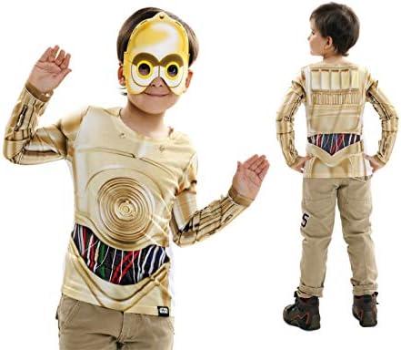 Disfraz Camiseta de Star Wars C3po Original de Carnaval para niño ...