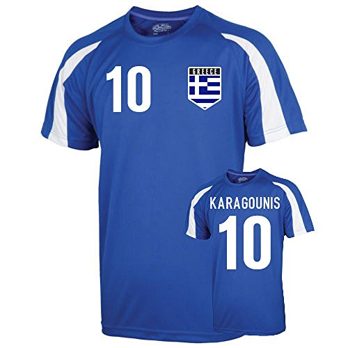 UKSoccershop Greece Sports Training Jersey (karagounis 10) - Kids