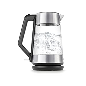 OXO On Cordless Glass Electric Kettle, Stainless Steel