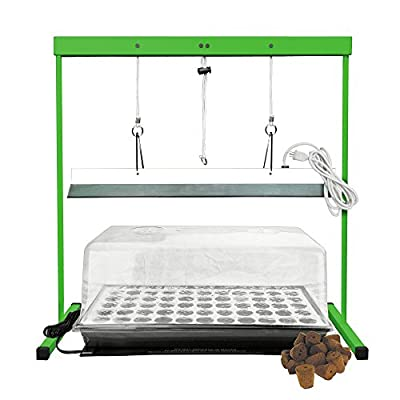 HTG Supply Seed Station - Complete Seedling Germination Kit with Grow Light and Stand