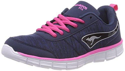 Zapatilla Kangaroos Navy Pink Mujer Kr Baja Run Daisy Ref Dk Blau rWwwnqxv