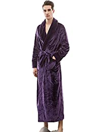 Mens Winter Plush Fleece Bathrobes Full Length Soft Warm Spa Robes House  Gowns with Pockets 8fac25031