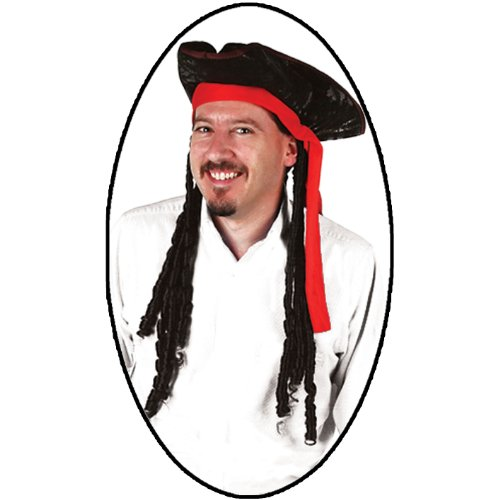 Caribbean Pirate Hat Party Accessory (1 count) (1/Pkg)