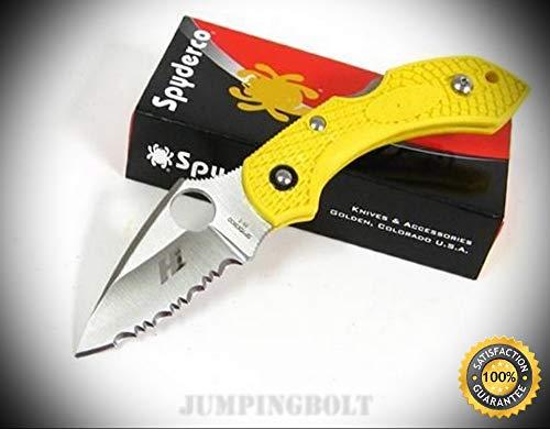Yellow Dragonfly 2 Salt Serrated Knife C28SYL2 - Premium Quality Very Sharp EMT EDC