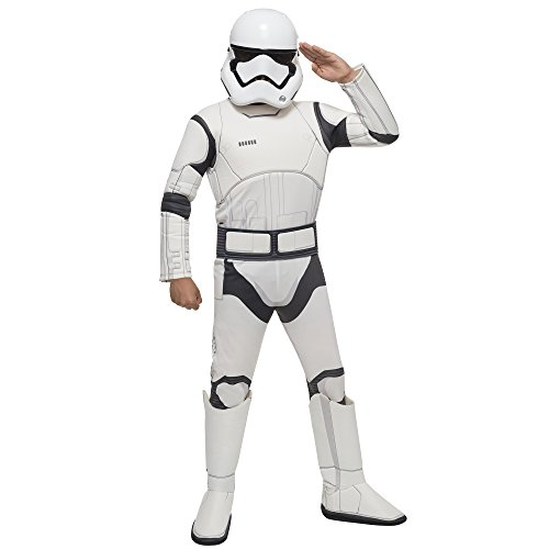 [Child's Boy's Deluxe Official Star Wars Stormtrooper Fancy Dress Party Costume (Medium)] (Deluxe Stormtrooper Costumes Child)
