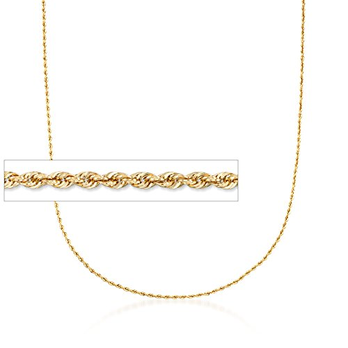 Ross-Simons 2mm 14kt Yellow Gold Rope Chain Necklace ()
