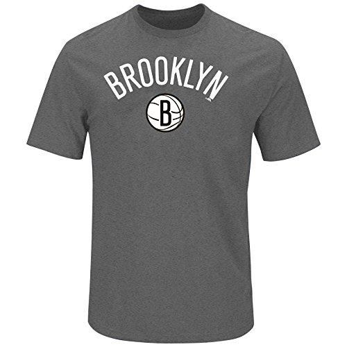 NBA Brooklyn Nets Adult men NBA S/Team Heather Tee,3X,Charc Hther