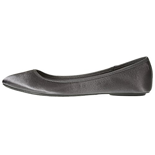 Grey Sara Flat Fashion Womens Casual Z Satin Classic Slip Shoes On Ballet PqfP7Z4pW