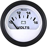 Faria Beede Instruments - Faria Euro White 2'' Voltmeter 10-16Vdc Vp9136 ''Product Category: Boat Outfitting/Gauges''