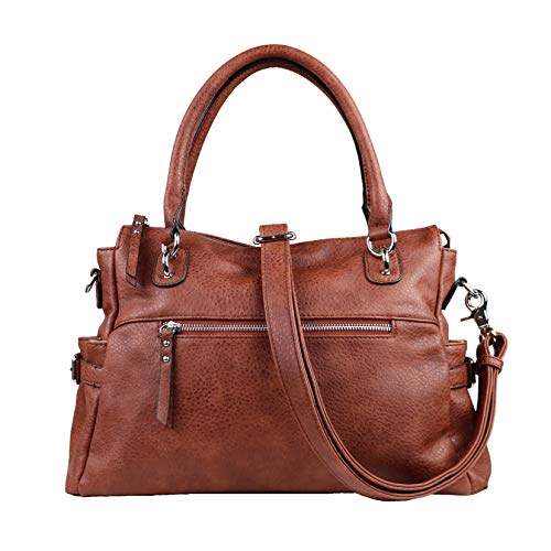 Boutique Purse Handbag - Concealed Carry Purse - YKK Locking Jessica Satchel by Lady Conceal (Mahogany)