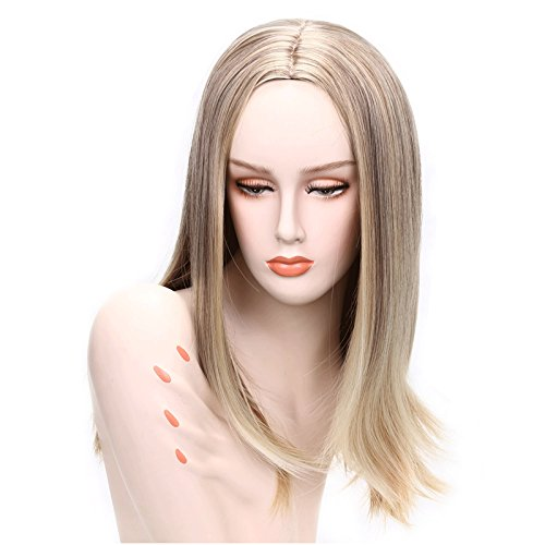Cheap Womens Costumes Australia (Topwigy 20 inch Long Straight Wigs Blonde Heat Resistant Replacement Wigs Cosplay Wigs Costume Wigs For Girls Women)