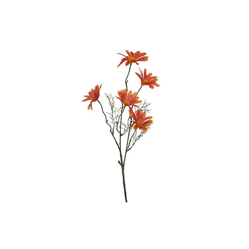 silk flower arrangements lily garden set of 12 artificial cosmos (orange)