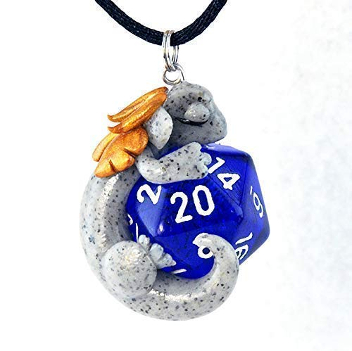Design Your Own D20 Dragon Pendant, Custom Dice Dragon Necklace