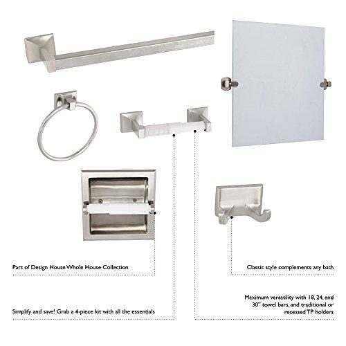 Design House 534644 Millbridge 4-Piece Bathroom Kit, Satin Nickel Finish
