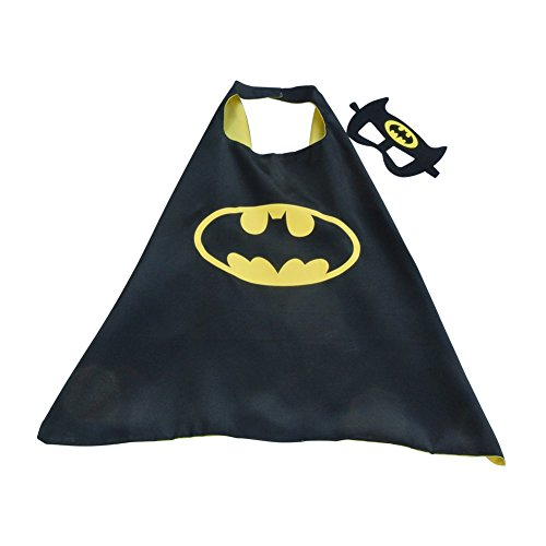 Toddler Boy Girl Super Heroes Costumes with Satin Cape and Felt Mask (Batman)