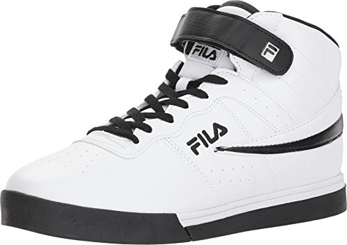 Fila Vulc 13 Mid Plus Mens High Top Athletic Fashion Sneaker Shoes - Legacy Shoes Leather Mid Black