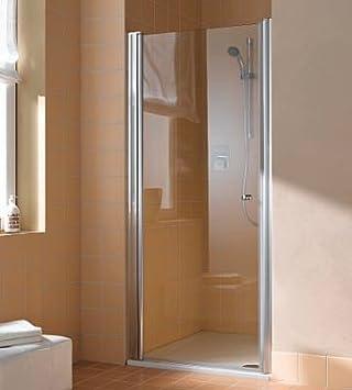 Kermi - Puerta abatible atea blanco; cristal genuino clara; 85; 200; derecho: Amazon.es: Bricolaje y herramientas