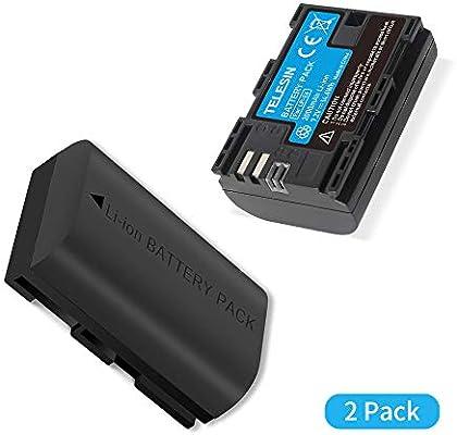 TELESIN ALLIN Box Cargador de batería Dual USB LP-E6 para Canon 5D ...