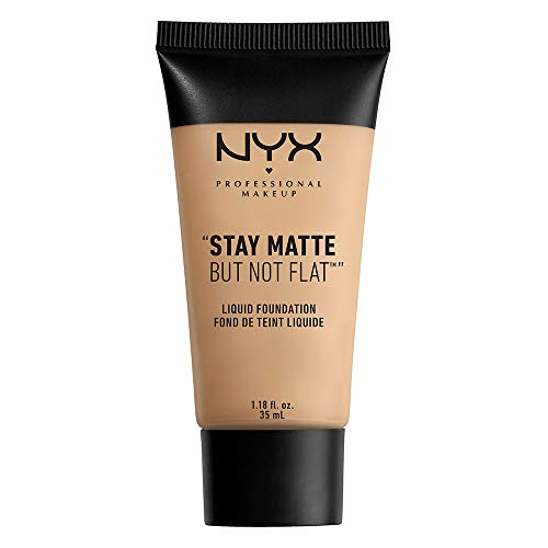 NYX PROFESSIONAL MAKEUP Stay Matte but not Flat Liquid Foundation, Nude, 1.18 Fl Oz