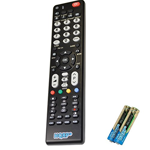 (HQRP Remote Control for Hitachi P42A202 P42H401 P42T501 P50A202 P50A402 LCD LED HD TV Smart 1080p 3D Ultra 4K Plasma + HQRP Coaster)