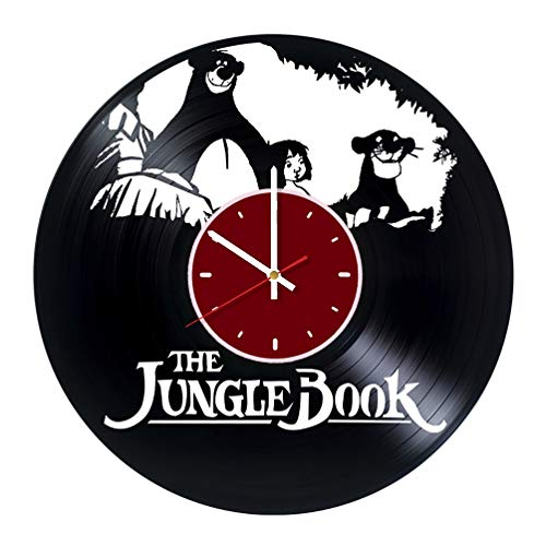 The Jungle Book Rudyard Kipling Vinyl Wall Clock Mowgli Living Room Home Decor