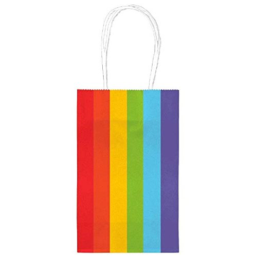 Amscan Rainbow Cub Bag Value Pack Party Supplies, Multicolor, 8 1/4