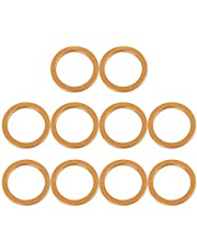 F FIERCE CYCLE 10pcs 30mm ID 40mm OD Motorcycle Exhaust Muffler Pipe Gasket Copper Tone for Honda CG125