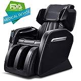 Massage Chair, TinyCooper C500 Zero Gravity Massage Chair, Full Body Massage Chair with Lower-back Heating and Foot Roller Black