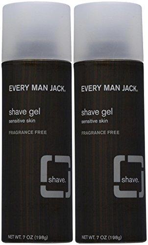 Every Man Jack Sensitive Skin Shave Gel-7 oz, 2 pk - Every Man Jack Shave Gel