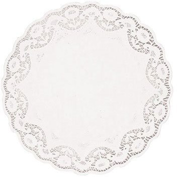 Plate White Dinner Classic (Amscan Classic Round Doilies Party Tableware, White, Paper, 10