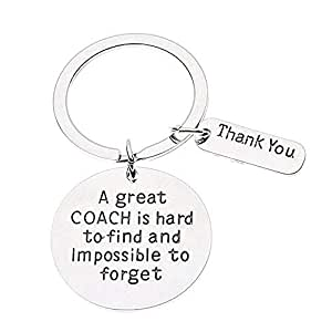 Infinity Collection Coach Keychain, Coach Gifts, Great Coach is Hard to Find Coach Keychain
