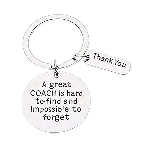 Infinity Collection Coach Keychain, Coach Gifts, Great Coach is Hard to Find Coach Keychain -