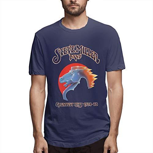 Terstin Steve Miller Band Retro Vintage Shirt Navy]()