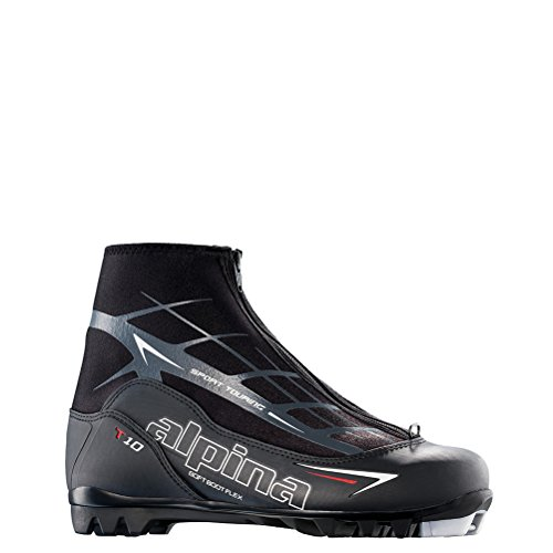 Alpina Sports T10 Touring Cross Country Nordic Ski Boots, Euro 43, Black/White/Red