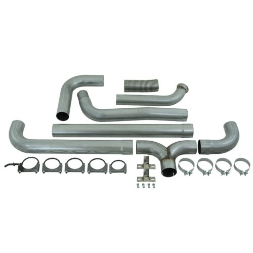 Mbrp Smokers Stack - MBRP S8201AL SMOKERS Aluminized Turbo Back Dual Side Exhaust System