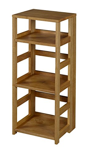 Niche Flip Flop 34″ High Square Folding Bookcase, Medium Oak