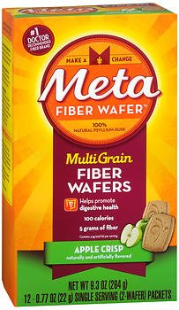 - Metamucil MultiGrain Fiber Wafers Apple Crisp - 12 ct, Pack of 4
