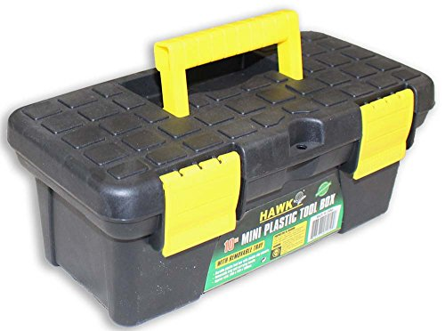 Light Duty Tool Box with One Main Compartment and Small Storage in Lid Plastic Art Tool Box