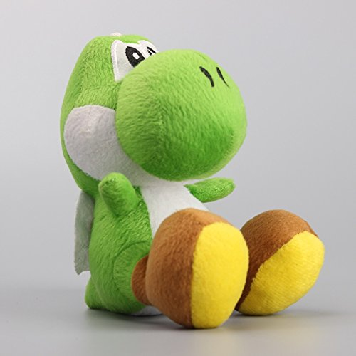 Super Mario Bros Yoshi Sitting Dragon 6 Inch Toddler Stuffed Plush Kids Toys Green