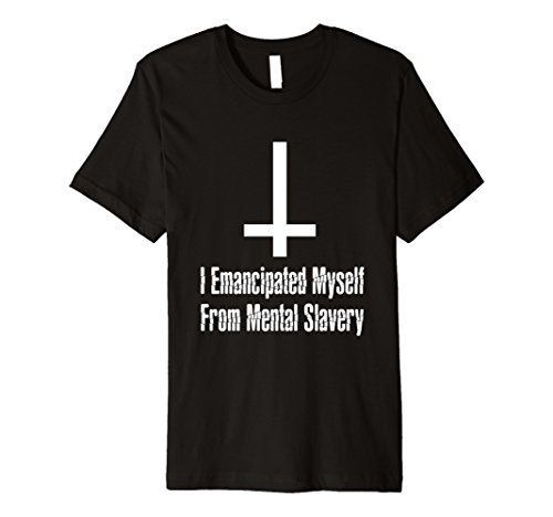 Inverted Cross    Emancipated Myself  Tee  Satanic Clothing