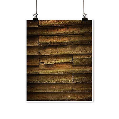 (Wall Art Vintage Teak Wood Wall for Background for Hallway Bathroom,12