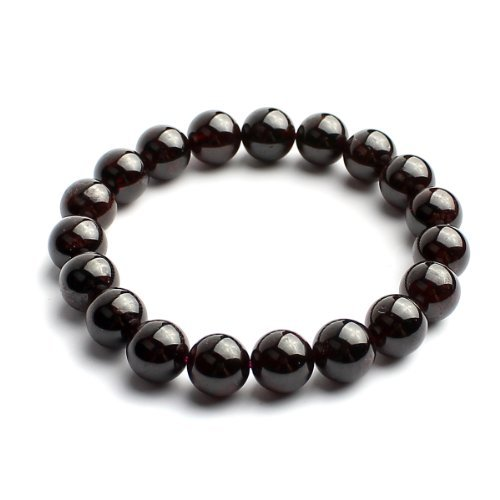 O-stone 2A Garnet Close to You Bracelet Grounding Stone Protection C11mm by O-STONE