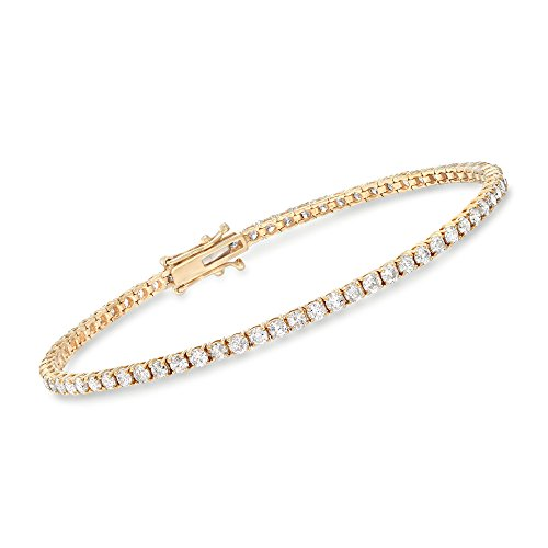 Ross-Simons 3.50-3.95 ct. t.w. Diamond Tennis Bracelet in 14kt Yellow ()